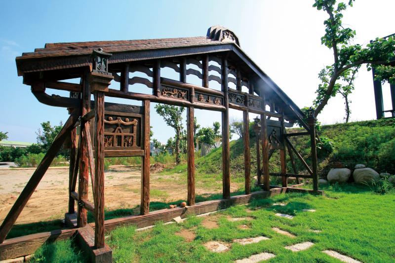 心雕居 原始木臼庭園造景