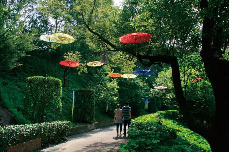 香格里拉樂園 花傘步道
