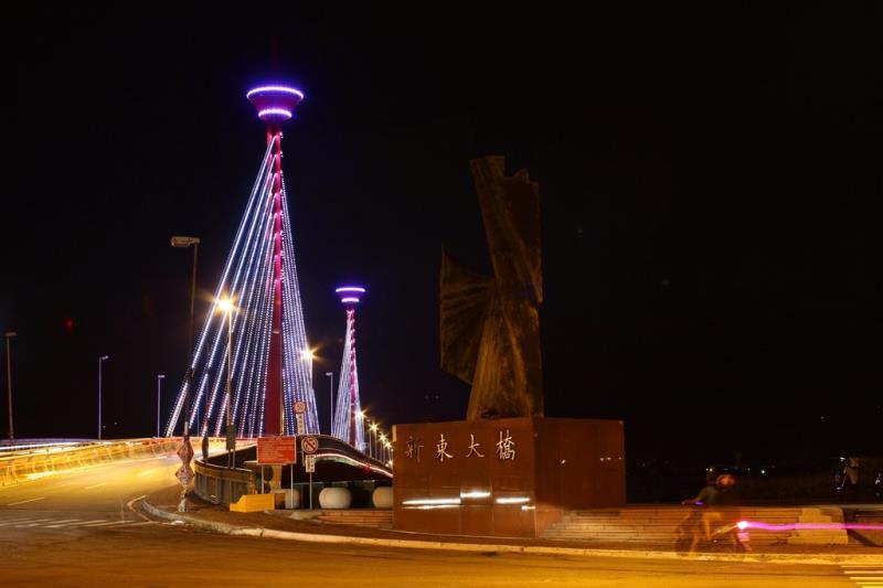 新東大橋 橋邊道路