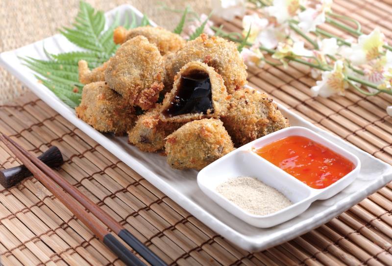 Fried grass jelly