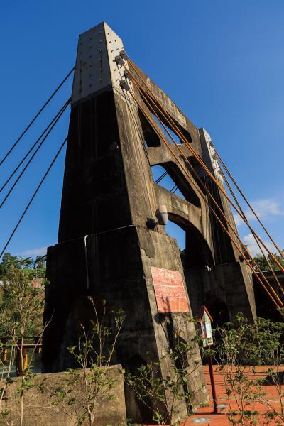 月眉吊橋 橋頭