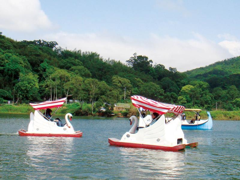 西湖渡假村-湖畔天鵝船